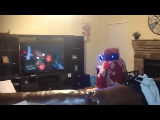 Grandma playing Playstation VR freaking out