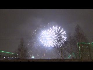 Салют 2016-2017 Новый Год, Набережные Челны 31 декабря 2016г