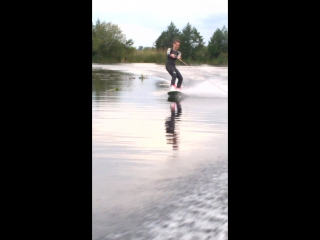 Мой вейкборд и его лодка нашли друг друга)))идеально))