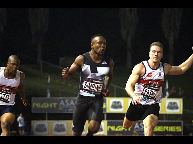 Akani Simbine runs a Sizzling 19.95 WL over 200m 2nd Munyai 20.10 NJR Pretoria