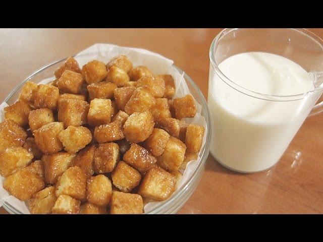 달달한 식빵팝콘 만들기 Caramel Bread Popcorn