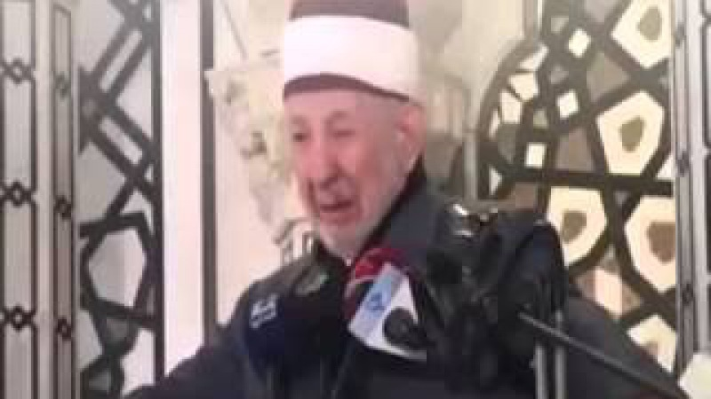 Последняя проповедь Рамазана аль Бути, и дуа.