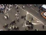 Legia Warszawa Ultras Сlashes against Police near Santiago Bernabeu  18102016