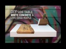 DIY White Concrete Table w/ Live-Edge Maple Inlay (using GFRC mix) - How To Make