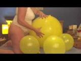 Katloon Looner - nail pop little yellow balloons and big yellow balloon