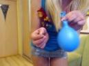 Beautiful girl Pop balloon