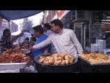 как делают вкусные сухарики с орешками в Индии, гренки по индийски Murukulu Making