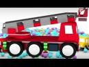 Çizgi Film Arabalar top havuzundan itfaiye arabası çıkarıyor