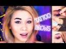 Tattoo!! Peel Off EyeBrows Etude House Tint My Brows Gel Review Peel off Makeup