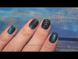 Бархат на атласе. Дизайн ногтей с бархатным песком
