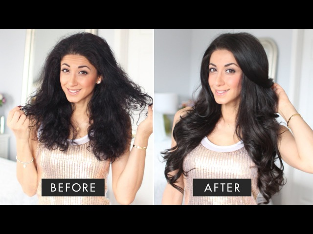 Hair Routine For Frizzy Hair | Blowout How To Get Silky Hair
