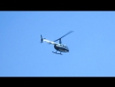 Крым. Алупка. Вертолёт над пляжем. Июль 2017 г.