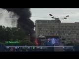Пожар в здании бизнес-центра на Крымском валу