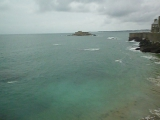 SAM_0774 Сан-Мало, побережье Франции пролив Ла-Манш, прилив море волнуется 1