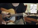 SISTAR 씨스타 - I Like That Acoustic Guitar Chords/Tutorial 기타 코드