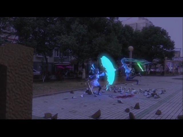 Hatsune Miku vs Luo Tianyi [MMD fighting by 彧弟 008gundy]