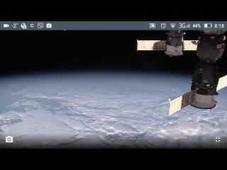 Невероятный вид Луны (на полнолуние)с космоса ,с борта МКС.13/01/17