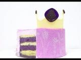 Муссовый торт Лаванда Черника  Mousse Cake Lavender Blueberry