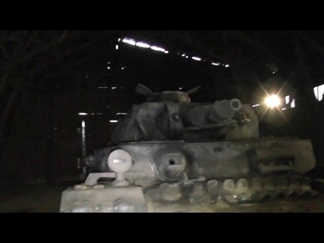 Как снимались «28 Панфиловцев». 3/3. Полноразмерный макет танка Pz IV. 04.01.2017г.