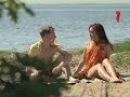 Анекдоты. Парень с девушкой на пляже