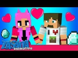 ДИЛЛЕРОН И МИНИКОТИК - ЗНАКОМСТВОminecraft мультики (DILLERON-MINIKOTICminecraft animation)