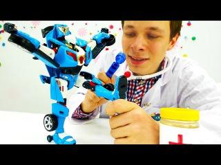 Игры для детей. Видео Машинки и Роботы Трансфомеры. #Тобот у Доктора Ой! Игрушки для мальчиков