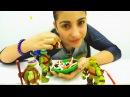 Черепашки Ниндзя и ПЛЕЙ ДО Пицца! Игры для девочек готовить. Мастер класс Поделки из пластилина