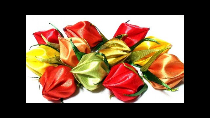 How to Make Flower Petals, DIY Kanzashi Tatiana Vasyliuk, Лепестки Канзаши из Ленты 5 см
