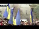 9 мая 2017. Киев. Участников «Бессмертного полка» в Киеве забросали дымовыми шашками