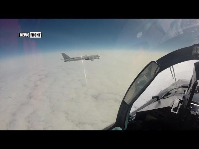 Российские Ту-95МС и Су-35С выполнили стратегический полет над нейтральными водам...