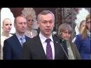 Ажурное панно площадью 12 квадратных метров представили на открытии фестиваля кружева в Вологде