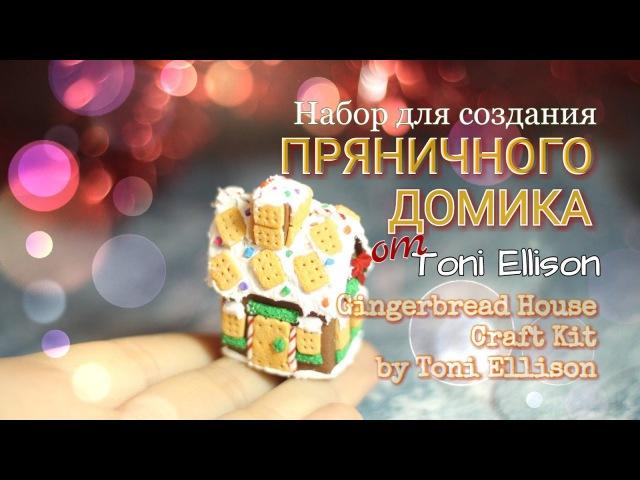 Пряничный домик из пластики ○ Toni Ellison ○ Gingerbread house craft kit by Toni Ellison ○ VAIGI