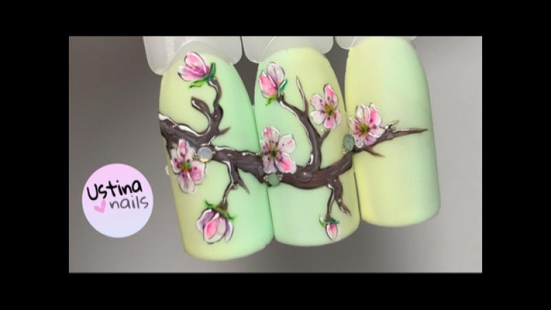 Дизайн ногтей. сакура