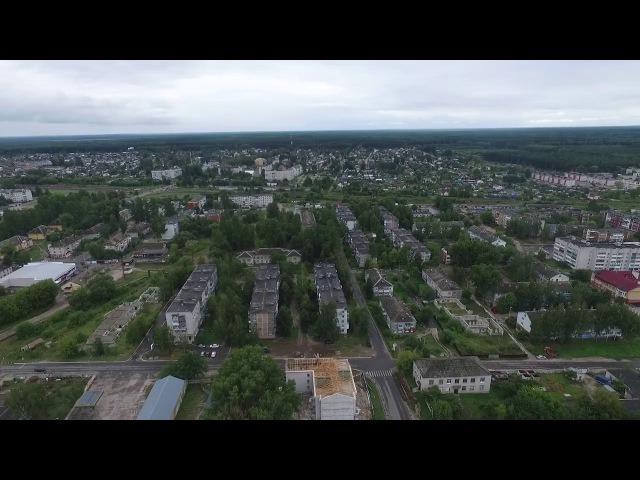 Белые Берега с квадрокоптера - район, ж-д, озеро, ГРЭС;