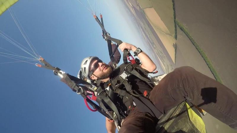Ребрик Саша. Полет на параплане 3.09.2017г.