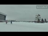 ОРТ ТВ - В Рыбинске приступили к установке новогодних искусственных елок