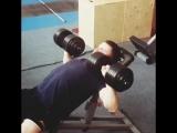 Vlad Starenky. Press of dumbbells 30 kg