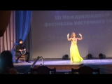 Оля Думбраван - 1 место ипровизация под аккомпонимент живой дарбуки с Yassir Jamal