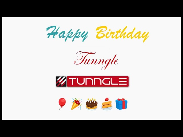 Happy Birthday Tunngle