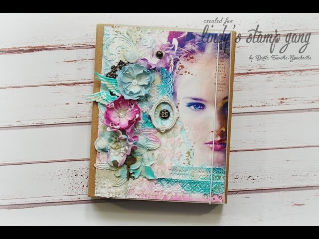 Mixed media cover tutorial - Marta Turska - Grochocka