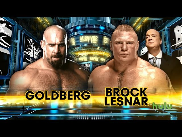 WWE: Survivor Series 2016 Brock Lesnar vs Goldberg Promo