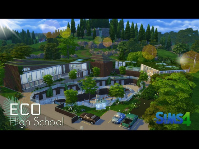 Eco High School   The Sims 4 Speed Build   IN 4K