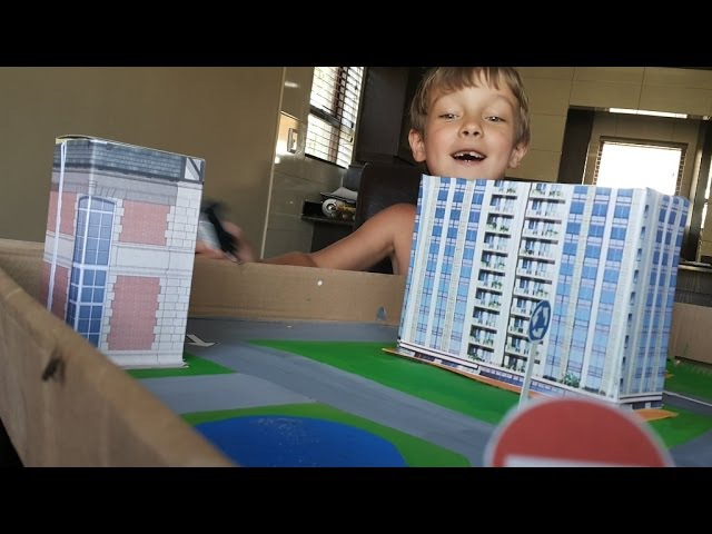 поделки с детьми город из подручных материалов, своими руками