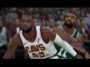 LeBron James vs Kyrie Irving   Celtics vs Cavaliers  NBA 2K18 Gameplay  PC  HD