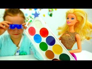 Игры для девочек Подарки на #НовыйГод! Кукла #Барби в магазине! Тролли из мультик ...