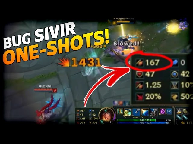 LOL BUG/WTF Moments 22: BUG SIVIR ONE-SHOTS! - League of Legends