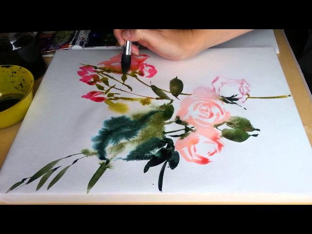 Цветы из цветной воды (1)