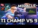 Miracle- BOSS Mode Activated! Immortal Sven Comeback 1v9 Dota 2