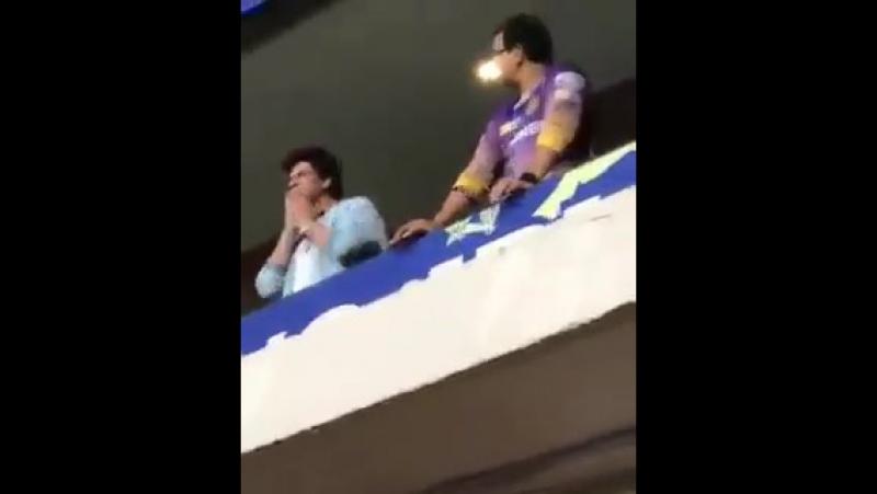 Shah Rukh Khan at Bengaluru Stadium SRH v KKR match 8