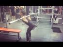 Марина Аксенова наклоны со штангой 20кг свой вес 42 5